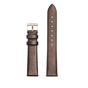 CLUSE Strap 16 mm Leather Chocolate Brown Metallic/ Rose Gold
