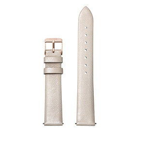 CLUSE Strap 16 mm Leather Warm White Metallic/ Rose Gold