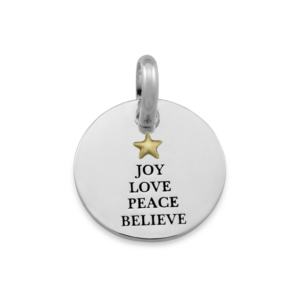 Candid 'Joy Love Peace Believe' Pendant