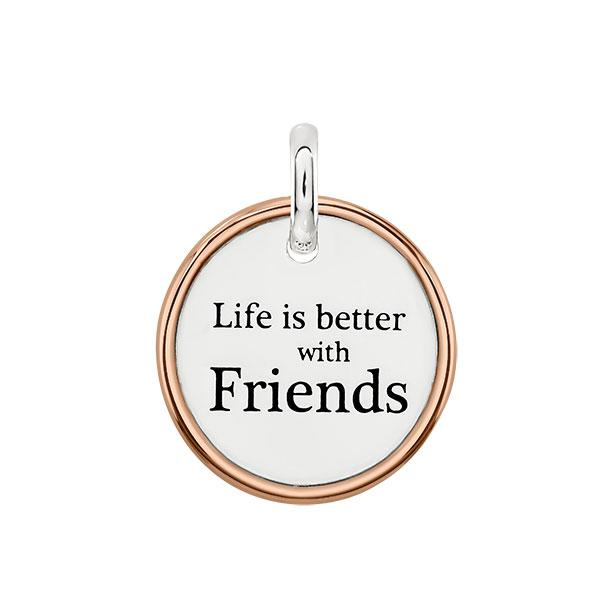 Candid 'Life Is Better With Friends' Pendant