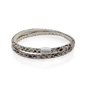 Candid Natural Snakeskin Leather Bracelet