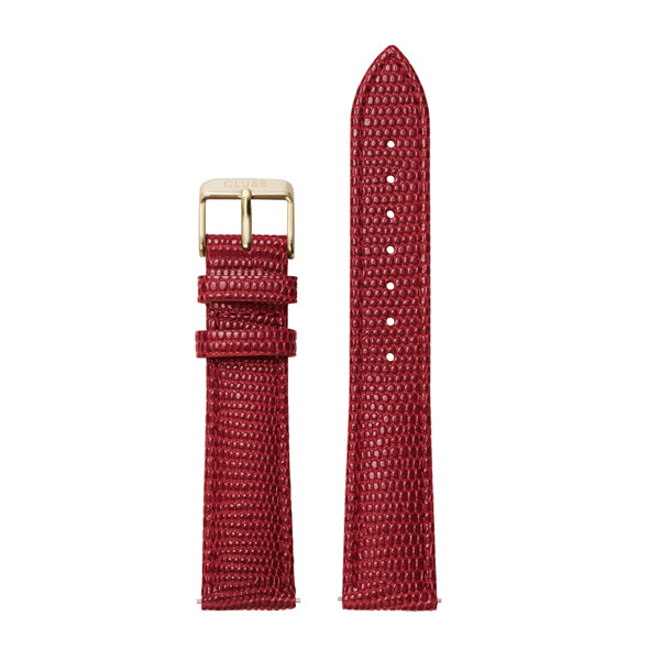 Cluse La Boheme Deep Red Lizard/Gold