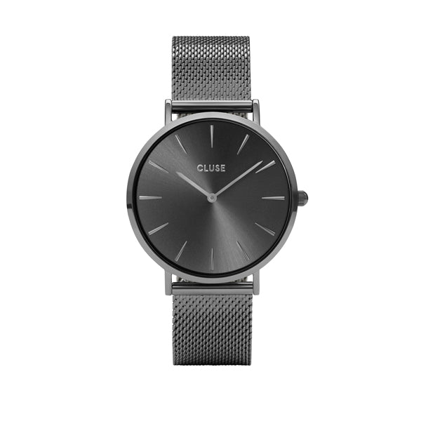 CLUSE Watches La Boheme Mesh Full Dark Grey