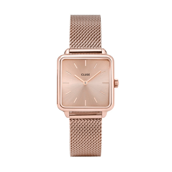 CLUSE Watches La Tetragone Mesh Full Rose Gold