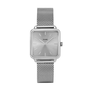 CLUSE Watches La Tetragone Mesh Full Silver