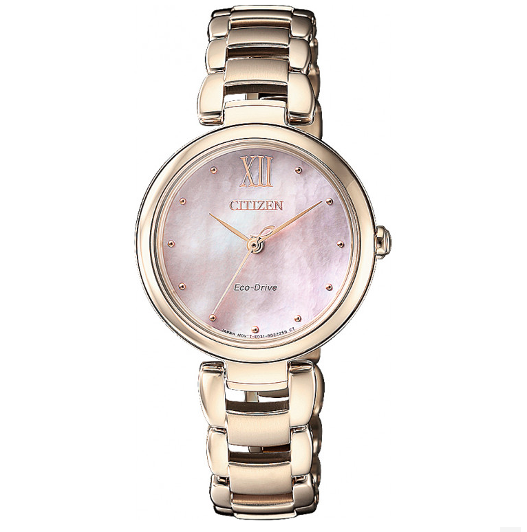 CITIZEN Ladies Eco-Drive Rose Gold Watch
