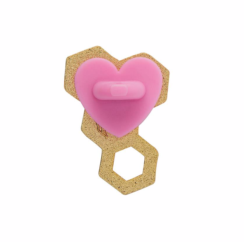 Happy Honeycomb Enamel Pin