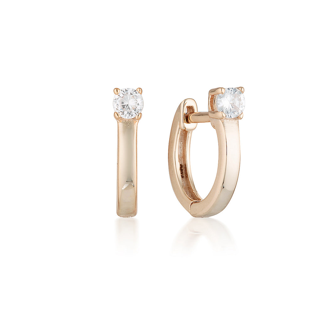 GEORGINI Mia Rose Gold Hoop Earrings