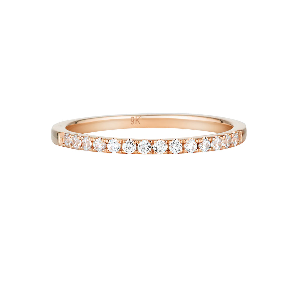 GEORGINI Brilliant Cut Rose Gold Wedding Band