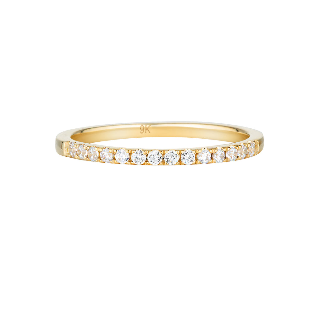 GEORGINI Brilliant Cut Gold Wedding Band