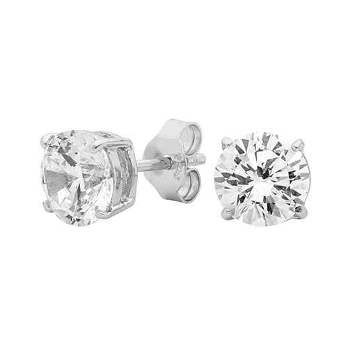 GEORGINI Clear Round Stud Earrings