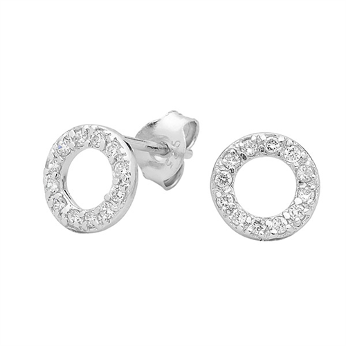 GEORGINI Baby Circle CZ Stud Earrings