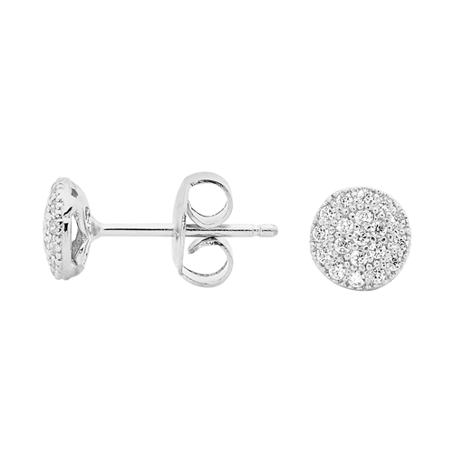 GEORGINI Petite Circle Silver Stud Earrings