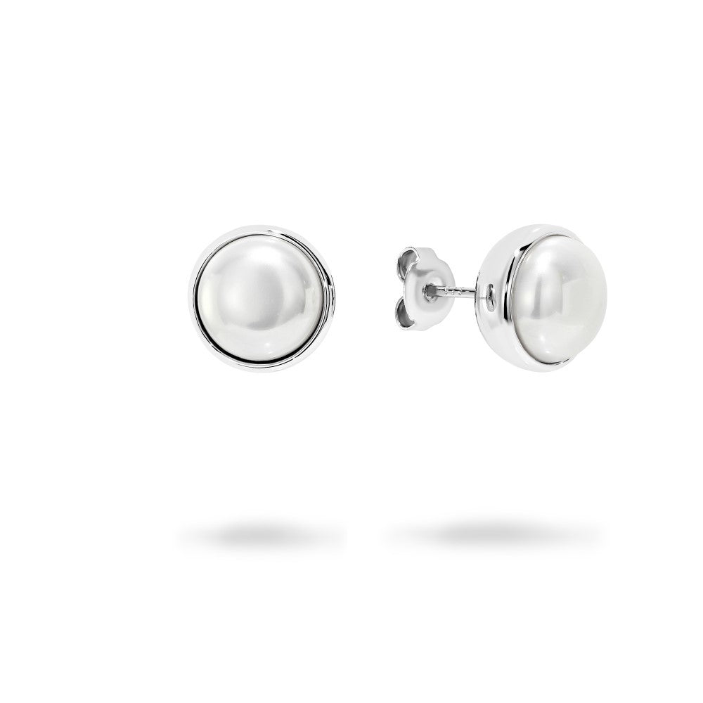 GEORGINI Lucca 10mm Pearl Stud Earrings