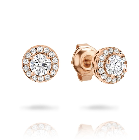 GEORGINI Petite Rose Gold Stud Earrings
