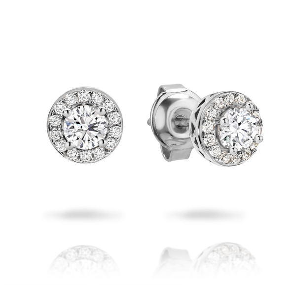 GEORGINI Petite Silver Stud Earrings