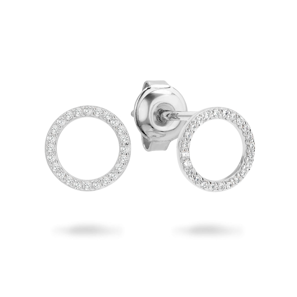 GEORGINI Ara Silver Stud Earrings