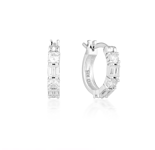 GEORGINI Irina Small Silver Hoop Earrings