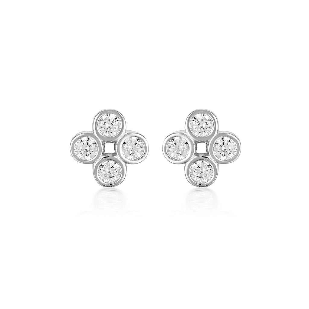 GEORGINI Stellar Lights Silver Twinkle Stud Earrings