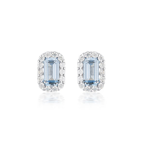 GEORGINI Aqua Paris Stud Earrings