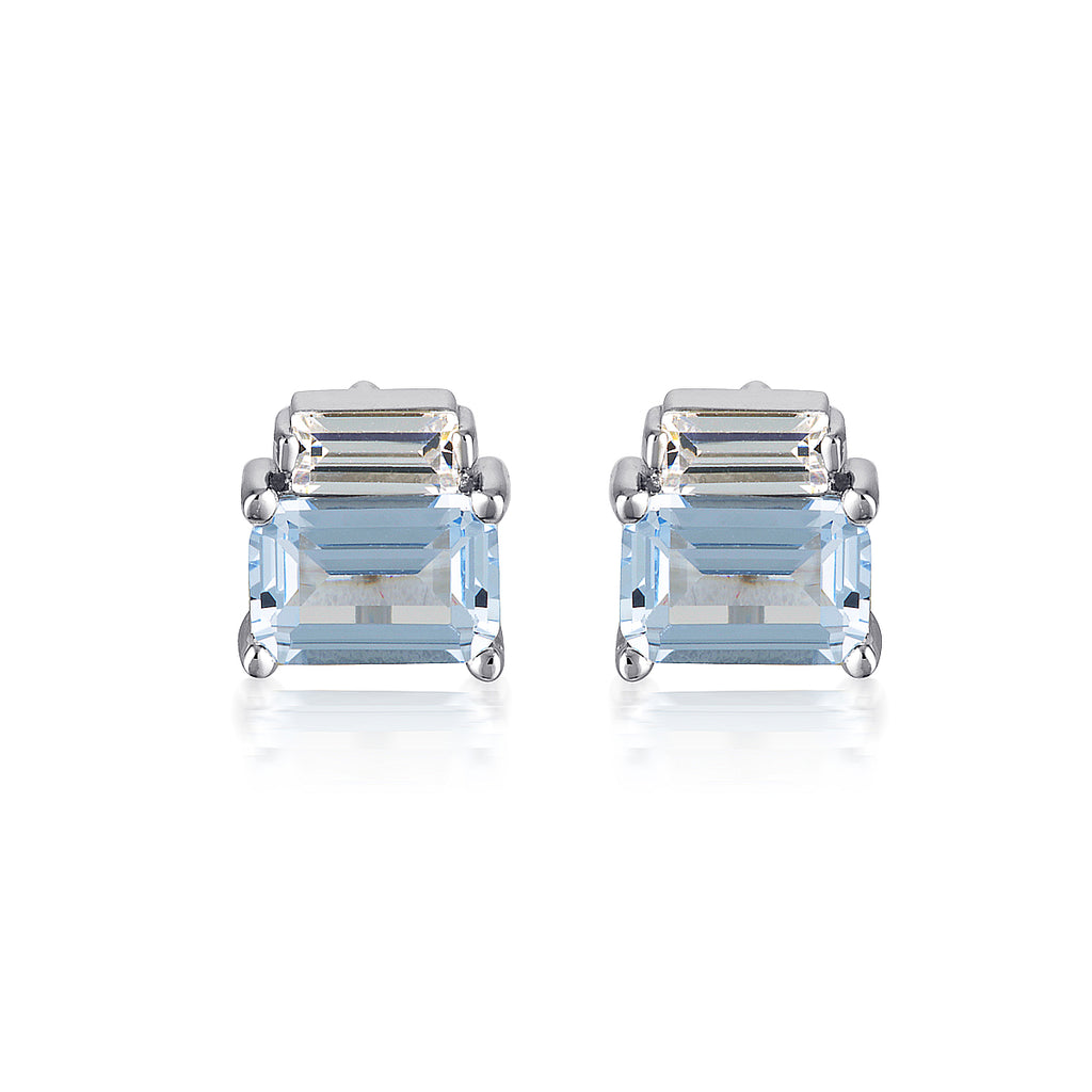 GEORGINI Silver Emilio Spinel Earrings