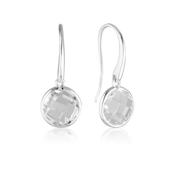 GEORGINI Lucent Silver Hook Earrings - Large