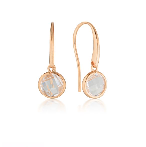 GEORGINI Lucent Rose Gold Hook Earrings - Small