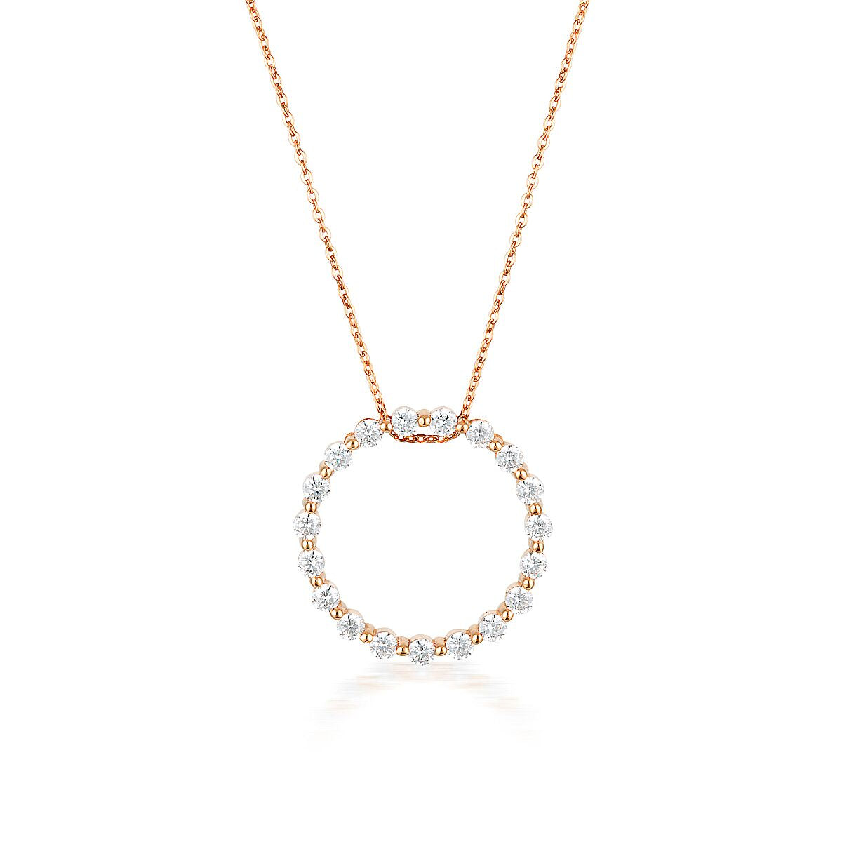 GEORGINI Circle of Life Pendant Rose Gold
