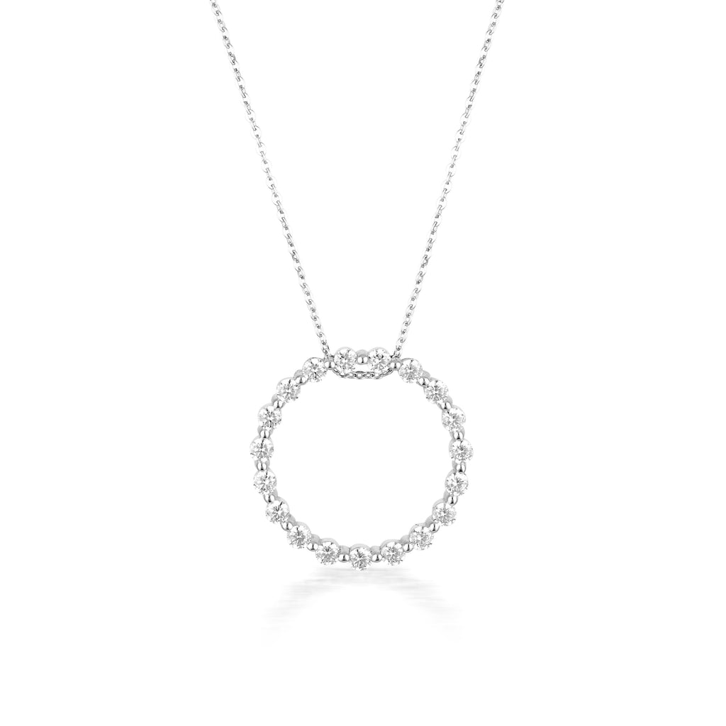 GEORGINI SS CZ Circle of Life Pendant