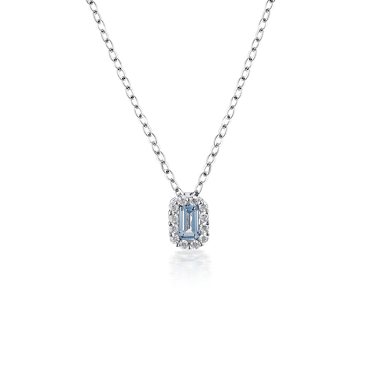 GEORGINI Paris Aqua Spinel Rhodium Pendant