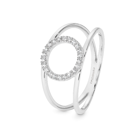GEORGINI Ara Rhodium Ring