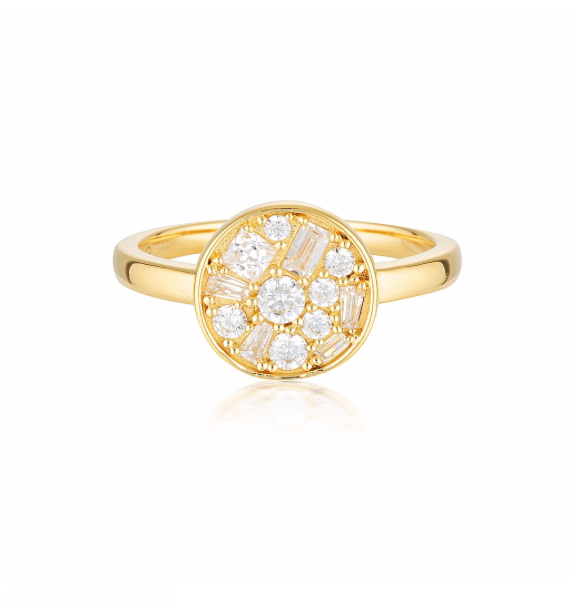 GEORGINI Mosaic Disc Gold Ring