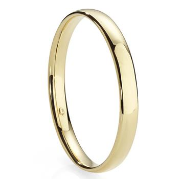 MP4039 9ct 68mm gold bonded silver 8mm oval bangle