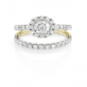 MP5592 18ct gold 0.45ct TDW diamond french pave set ring.