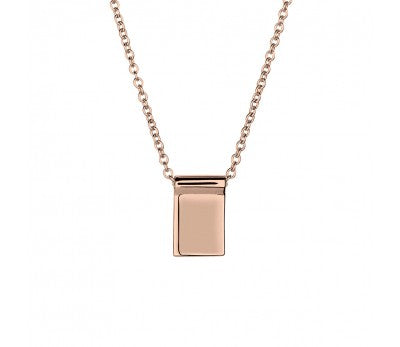 Rose Gold Sterling Silver Square Pendant