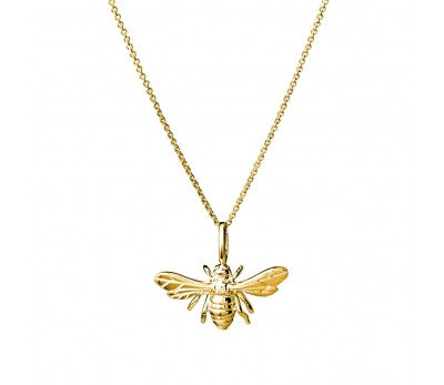 Gold Sterling silver bee necklace