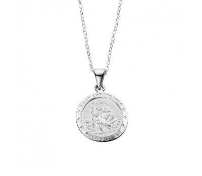Sterling Silver St Christopher necklace, including chain