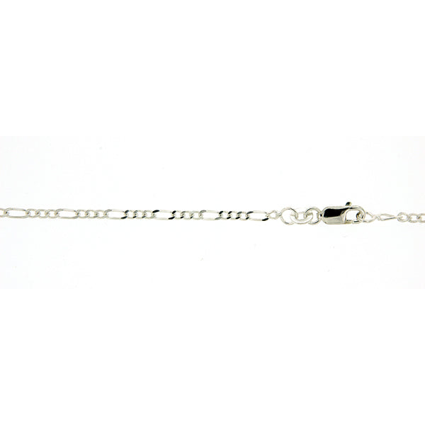 Sterling Silver 1:3 figaro 65cm chain