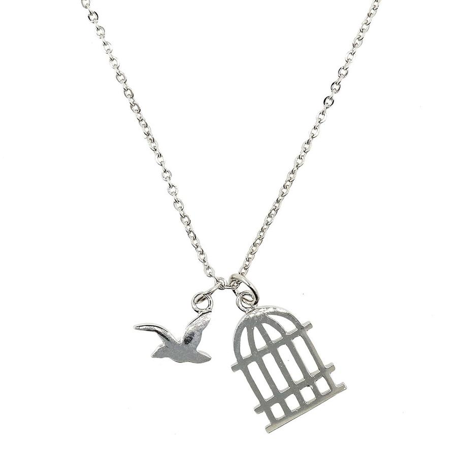 Bird & Cage Necklace
