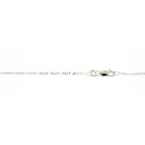 Sterling Silver 1:3 figaro 45cm chain