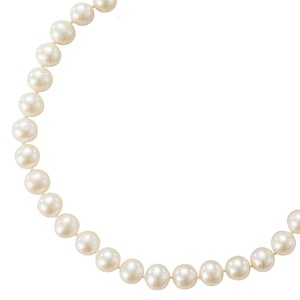 Sterling Silver 45cm Pearl Strand