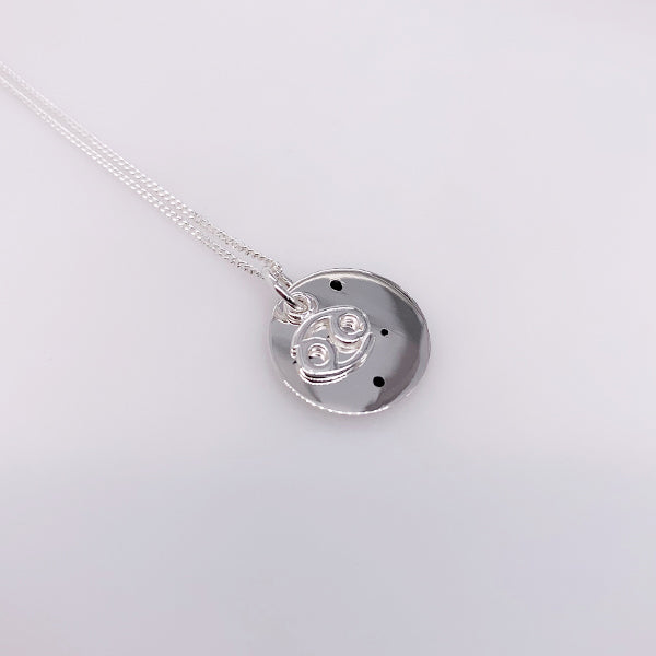 Sterling Silver Cancer pendant with chain