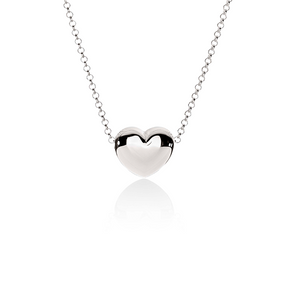 Sterling Silver Heart Slider on Chain