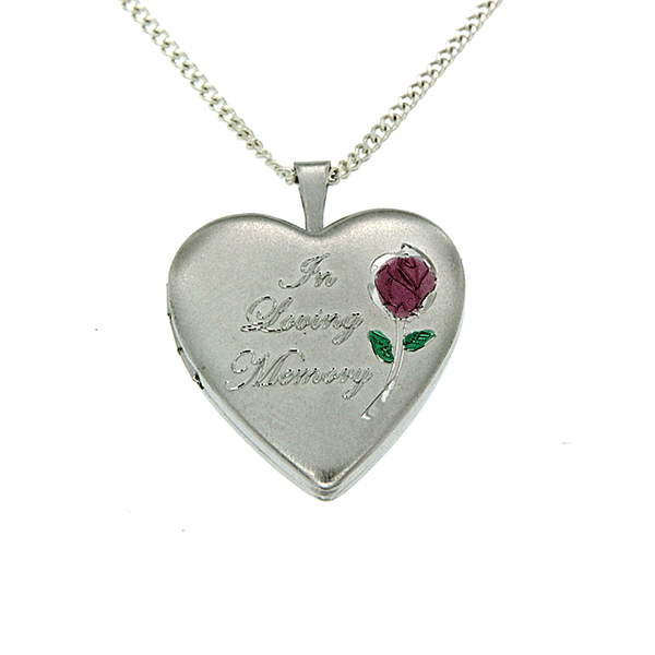 Sterling Silver 'In Loving Memory' Cremation Locket