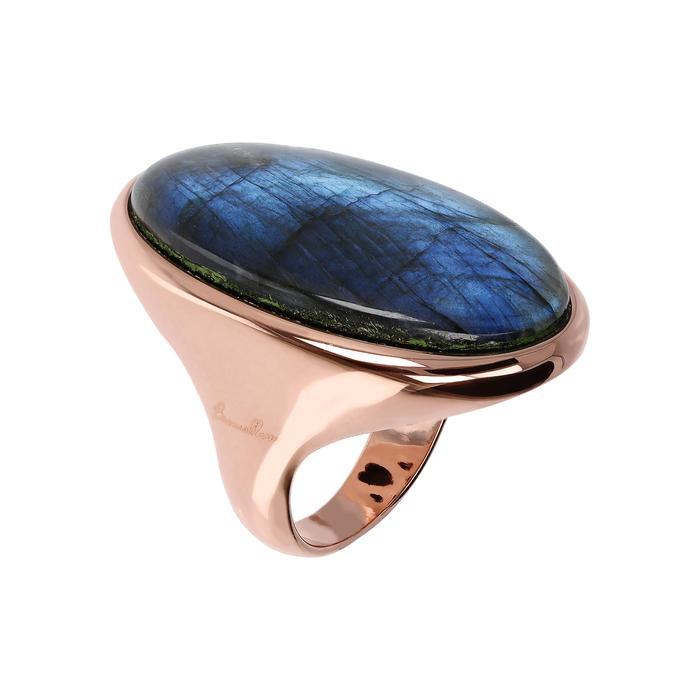BRONZALLURE Incanto Oval Ring with Labradorite