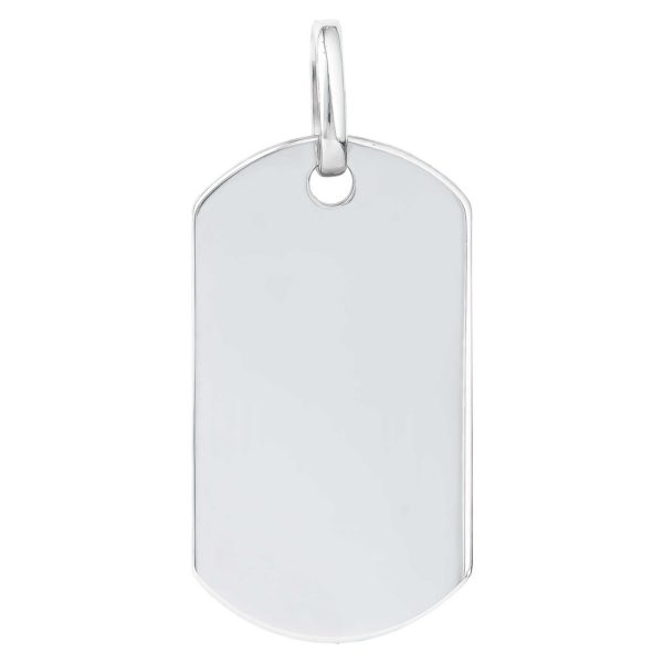 Sterling Silver Engraveable ID Tag