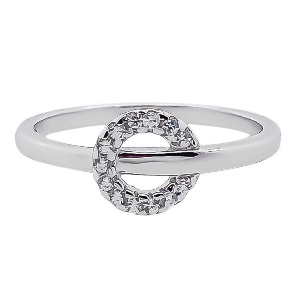 Sterling Silver CZ Circle Ring