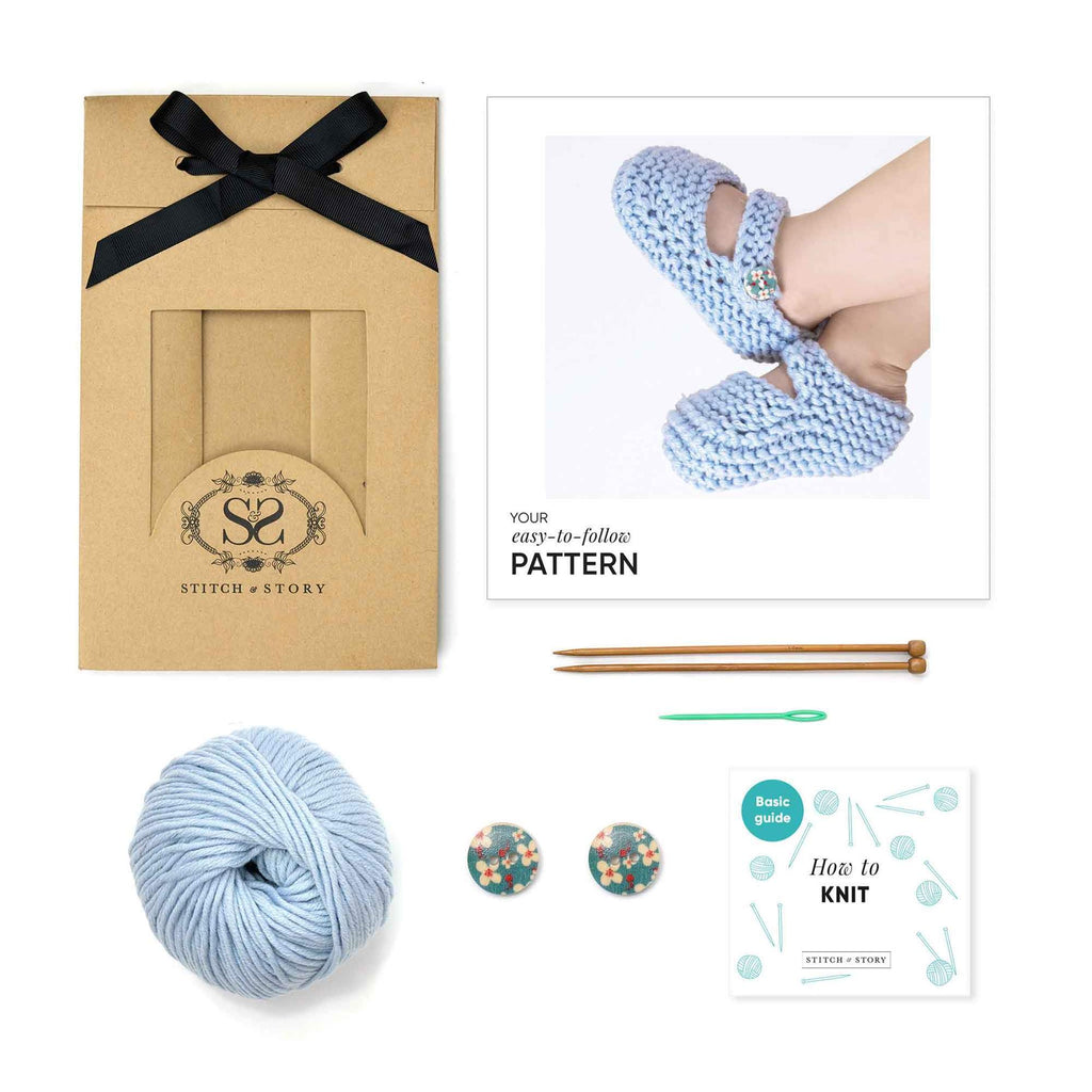 Stitch and Story Knitting Kit- Bonny Booties