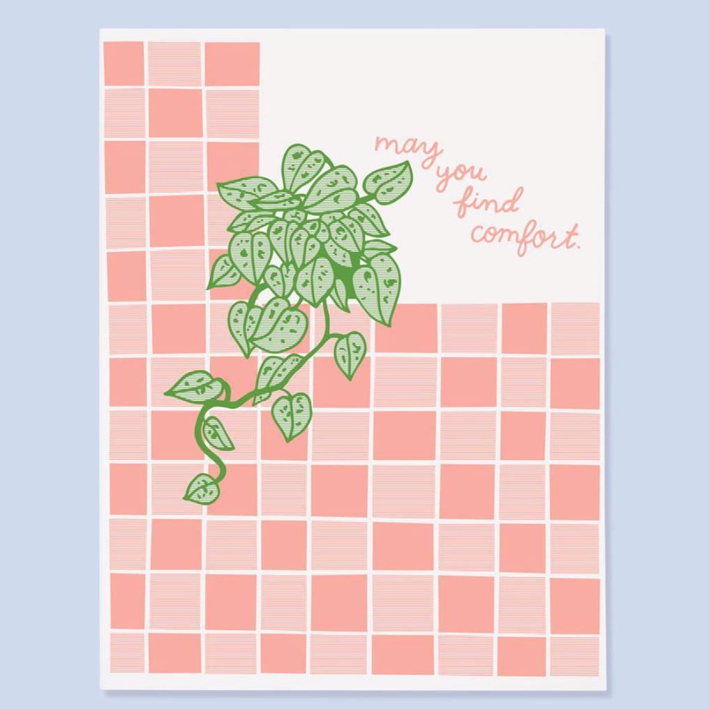 """May You Find Comfort"" Sympathy Card"