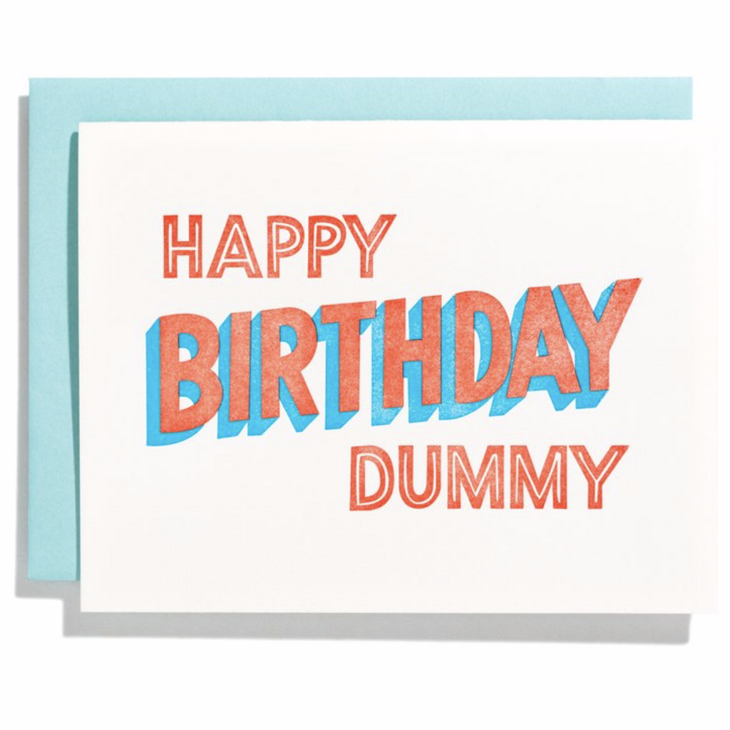 """Happy Birthday Dummy"" Birthday Card"